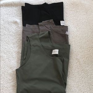 3 Chico's size 2 tanks 1 green 1 taupe 1 black